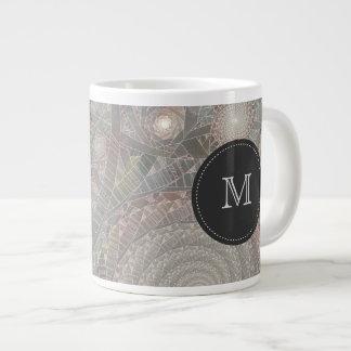 "taza enorme con monograma del ""spiralfilmfrost"" taza grande"
