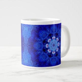 Taza enorme coralina del azul real taza grande