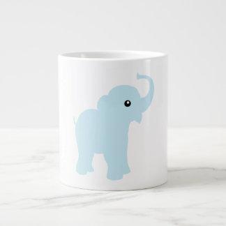 Taza enorme de China del elefante lindo de los azu
