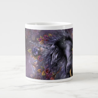Taza enorme de la especialidad del unicornio color taza grande