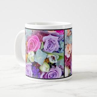 Taza enorme floral taza grande
