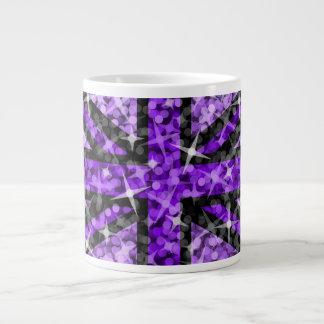 Taza enorme negra púrpura BRITÁNICA de la mirada d Taza Grande