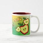 Taza enrrollada de las frutas