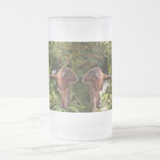 Taza enrrollada del Fauna-partidario del orangután