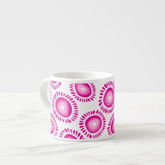 Taza enrrollada rosada preciosa del jumbo del Espr