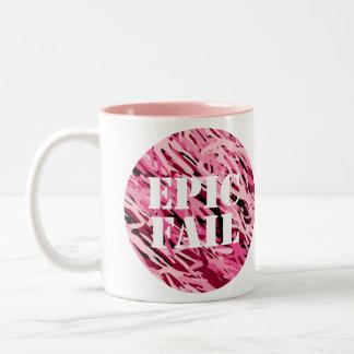 Taza ÉPICA del rosa del FALL