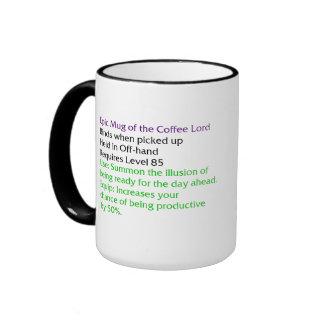 Taza épica del señor del café