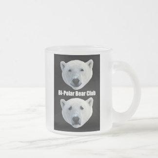 Taza escarchada del club bipolar del oso