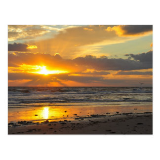 Taza escénica de la salida del sol de la playa de tarjeta postal