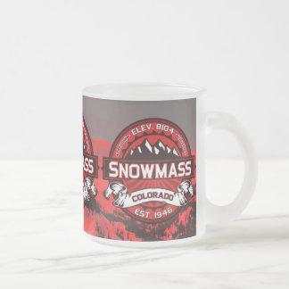 Taza escénica del logotipo del color de Snowmass