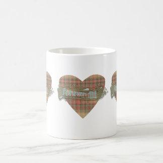 Taza escocesa del corazón del tartán de la