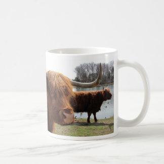 Taza escocesa del ~ del ganado de la montaña