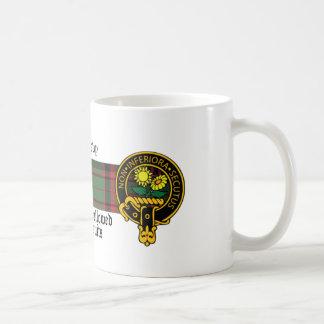 Taza escocesa del escudo y del tartán de Donlevy