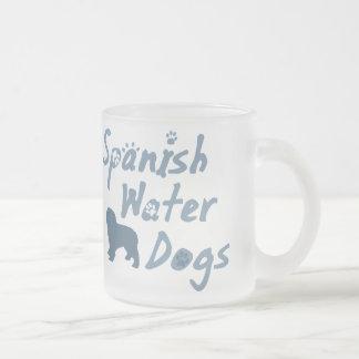 Taza española del perro de agua de los azules ciel