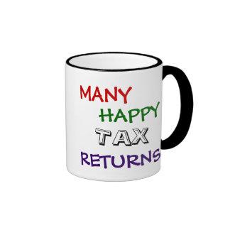 Taza especial feliz del impuesto de muchas