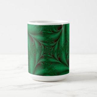 Taza espiral cuadrada verde