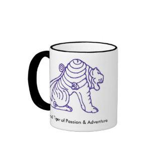 Taza espiral de Reiki del tigre