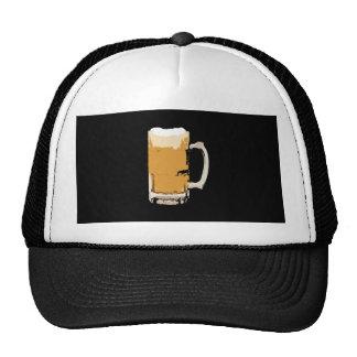 Taza espumosa de arte pop de la cerveza gorro