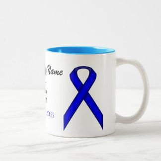 Taza estándar azul del Dos-Tono de la plantilla de