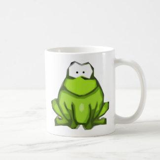 Taza estilizada de la rana