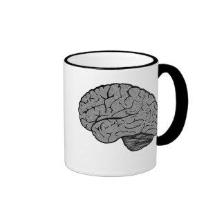 Taza estilizada del cerebro