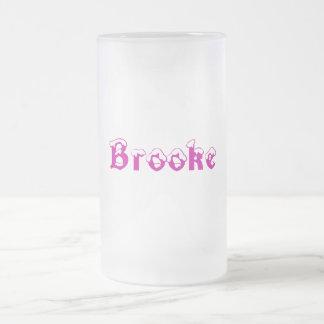 Taza Estilo-Helada nombre de Brooke-
