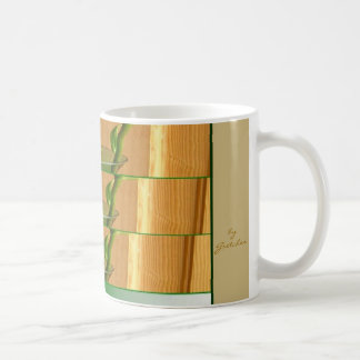 Taza estirada florero de los troncos de las hojas