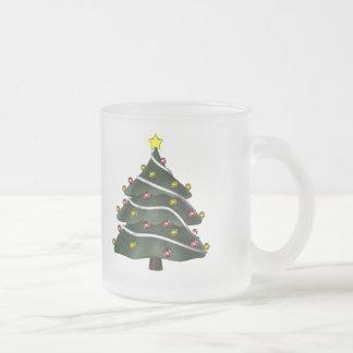 taza Estrella-rematada del árbol de navidad