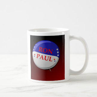 Taza estupenda del botón de RON PAUL