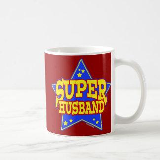 Taza estupenda del marido de la estrella taza básica blanca