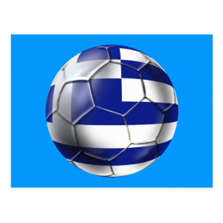 Taza europea 2012 - bandera del fútbol del fútbol tarjeta postal