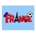 Taza europea - bola francesa de Francia de las fan Tarjetas Postales