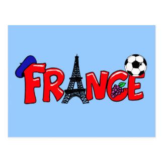 Taza europea - bola francesa de Francia de las Postal