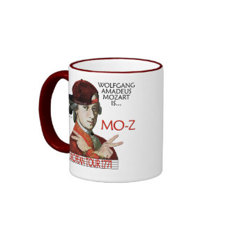 """Taza europea del viaje de Mozart """"MES-z"""""""