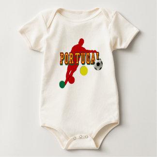 Taza europea - euro 2012 del Europa de Portugal Body Para Bebé