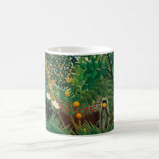 Taza exótica del paisaje de Henri Rousseau