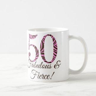 Taza fabulosa y feroz del 50.o cumpleaños del