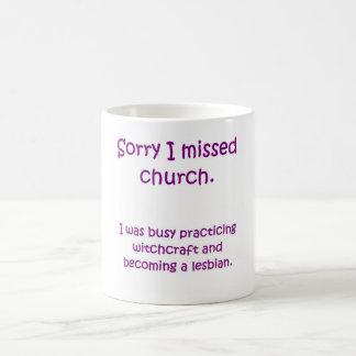 Taza faltada de la iglesia
