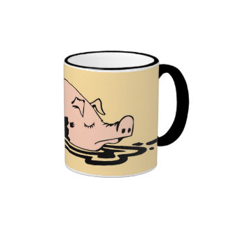 Taza fangosa del cerdo