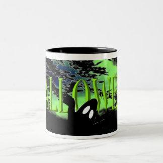 Taza fantasmagórica de Halloween
