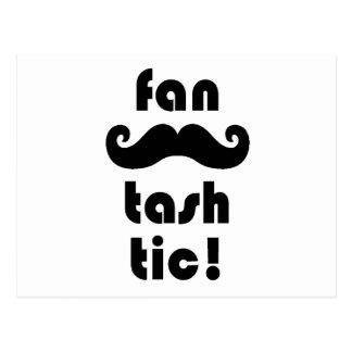 "Taza fantástica del bigote de la ""Fan-Tash-Tic"" Tarjetas Postales"