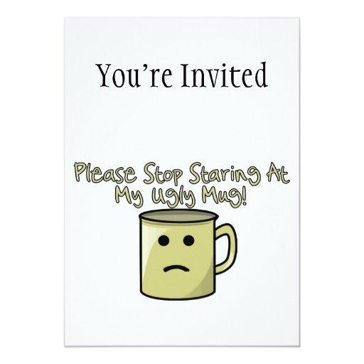 Taza fea invitacion personal
