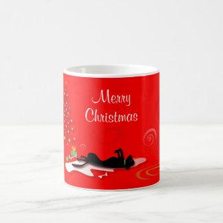 Taza - Felices Navidad del laboratorio negro