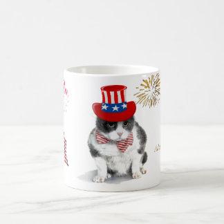 taza: Felix decidido, el gato, el 4 de julio Taza De Café