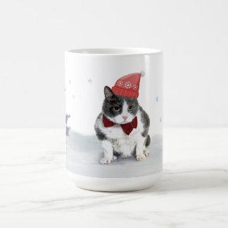 Taza: Felix, el gatito, en enero Taza De Café