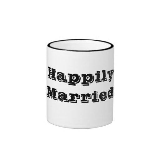 Taza feliz casada