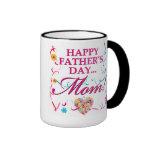 Taza feliz colorida de la mamá del día de padres
