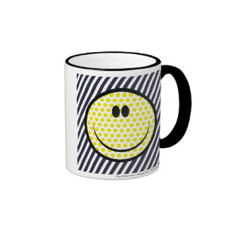 Taza feliz de la cara de Roy Lichtenstein
