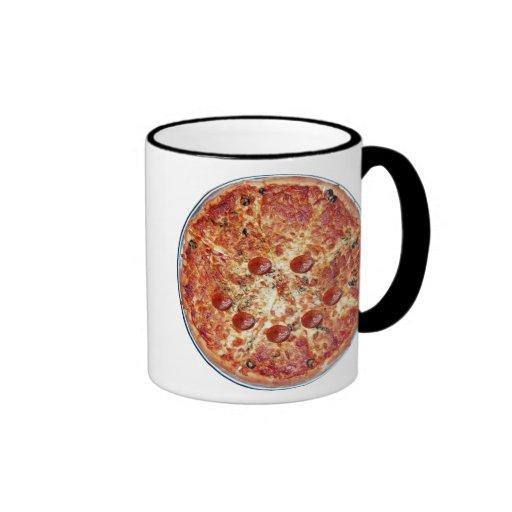 Taza feliz de la pizza