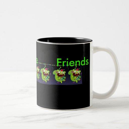 Taza feliz de los amigos del árbol